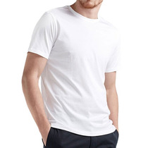 Camiseta Branca Básica Lisa Confeccionada Em Malha Fria Pv