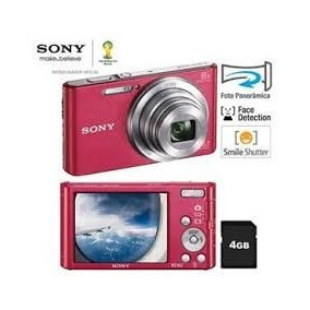 Câmera Digital Sony Cyber-shot W690 Vermelho + Cartão 8gb