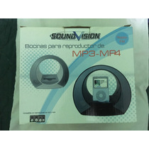 Bocina Reproductor Negro Mp3 Mp4 Con Entrada Tipo Ipod