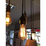 Portalámpara Colgante Con Lámpara Vintage Incluida 40w Retro