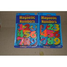 Números Magnéticos Plásticos X 2 - 26 Piezas Cada Blister