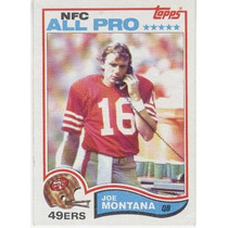1982 Topps All Pro Joe Montana San Francisco 49ers