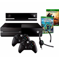 Xbox One 500gb C/ Kinect C/ 2 Controles + 2 Jogos + Headset