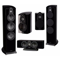 Kit Caixas Home Theater Hi-end Wharfedale Jade - Black Piano