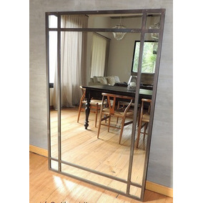 Espejos con marco artesanal en mercado libre argentina for Espejo estilo industrial
