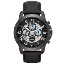 Relógio Masculino Fossil Me3028/0pn Pulseira Couro Preta