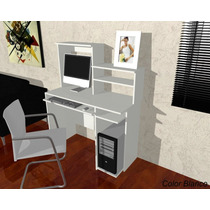 Mesa De Pc Con Alzada / Escritorios / Muebles /