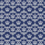 Papel De Parede Coroas Fundo Azul 3,10m