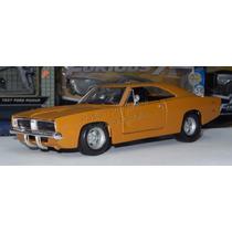 1:24 Dodge Charger R/t 1969 Naranja Mate Maisto Display
