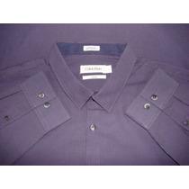 Camisa Calvin Klein Original 100% Algodon Talla L Manga Larg