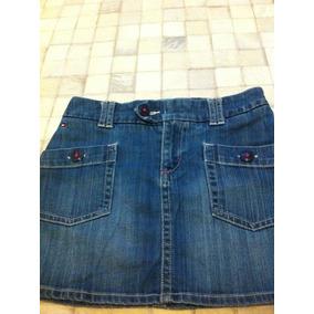 Tommy Hilfiger Saia Jeans Com Pespontos Na Cor Rosa 10ano