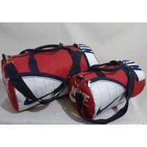 Bolsa Mochila Nike Esportes Viagem 2 Bolsas Grande E Pequena