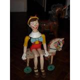 Pinocho De Madera Tallado Y Articulado
