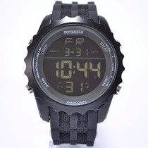 Relógio Potenzia Masculino Digital Cronômetro Luz Barato