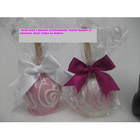 Maça Do Amor Coberta Com Chocolate (5 Unidades)