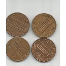 Estados Unidos Lote De 4 Monedas De Un Centavo Ceca S