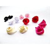 100 Rosas Flores De Tela Rococo Pegar O Coser Varios Colores