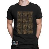Camisetas Saint Seiya Ouro Cdz Áries Touro Câncer Leão Libra