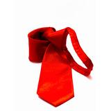 Gravata Vermelho Ferrari Acetinada Lisa Uniformes, Bandas
