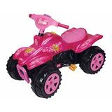 Cuatriciclo Barbie A Pedal Biemme 1742 Con Bocina