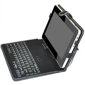 Capa De Couro C/ Teclado Universal Usb P/ Tablet Pc Notebook