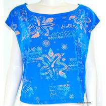 Blusa Hollister Short Sleeve Azul