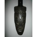 Vintage Mascara Africana De Madera Hecha A Mano De Ghana