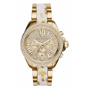 Reloj Michael Kors Mk6157 Colección Wren Dorado Nuevo Caja