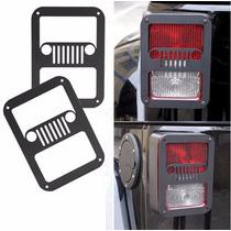 Par Tapas Metalica Calavera Jeep Wrangler Jk Figura En Stop
