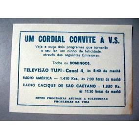Panfleto 11,5 X 8,5 - Televisão Tupi