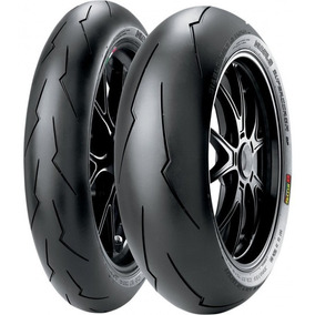 Jogo Pneu Moto 120/70r17+200/55z17pirelli Diablo Super Corsa