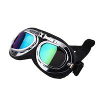 Oculos Motociclista Capacete Aberto Harley Aviador Retro Co