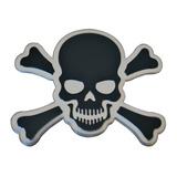 Calavera Pirata Ironman Sticker Aluminio Tuning Moto Auto