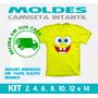 Camiseta Infantil Moldes