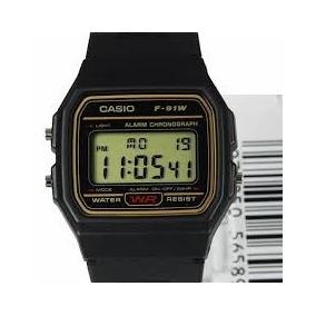 Relogio Casio F91w - Original - Dourado