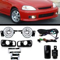 Kit Farol De Milha Honda Civic 1999 2000 + Kit Xenon