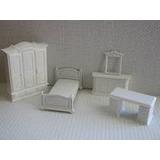 Dormitorio Blanco Interior Casa Maqueta Esc 1:25 O 1:30
