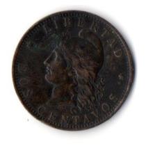 Argentina, 2 Centavos De Patacón 1884