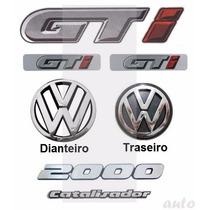 Kit Emblemas Gol Quadrado Gti 2000 Catalisador - Até 1994