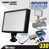 Reflector De 336 Leds Para Video Y Dsrl, Con Control, Nuevo