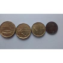 Lote 4 Monedas De Argentina - 3 Del Mundial 78