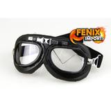 Oculos Goggle Proteção Vintage Goggles Aviador Armação Black