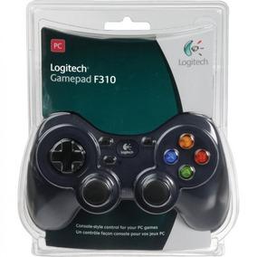 Logitech Gamepad F310, Pc, Alámbrico, Negro/gris, Usb