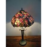 Lindo Abajur Tiffany Com Pedrade Cristal Cod 16201