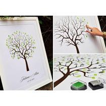 Árbol De Huellas 33x48 Con 2 Tintas Personalizado Bodas