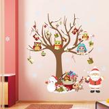 Adesivo Decorativo Arvore + Enfeites Natalinos + Papai Noel