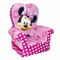 Silla Sofa Sillon Infantil Con Respaldo Alto Minnie Mouse Nb