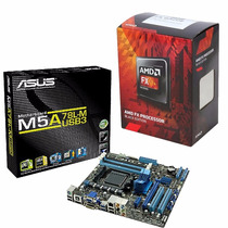 Combo Mother Am3 Asus M5a78l-m Usb3 Am3+ Micro Fx8320e