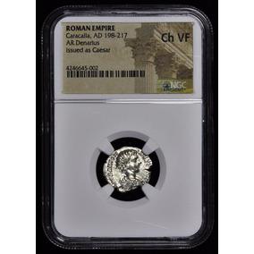 Moeda Imperador Romano Caracalla Ad 198-217- Certificado Ngc