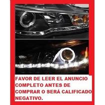 Faro Lupa Con Leds Ojo De Angel Eyes Para Mitsubish Lancer